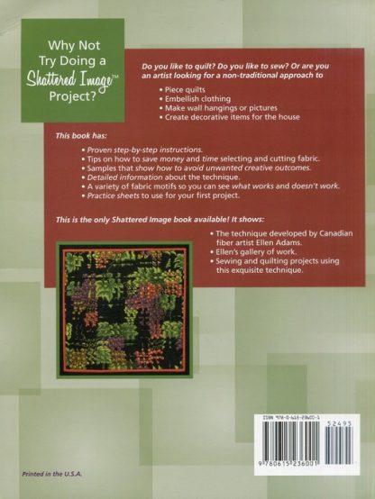 Shatter and Sew (Book) Back Cover