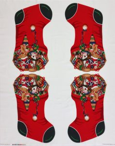 Christmas Stocking Panel (Medium) 88350-1