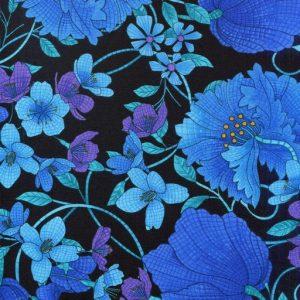 Mosaic Floral C4664-Black