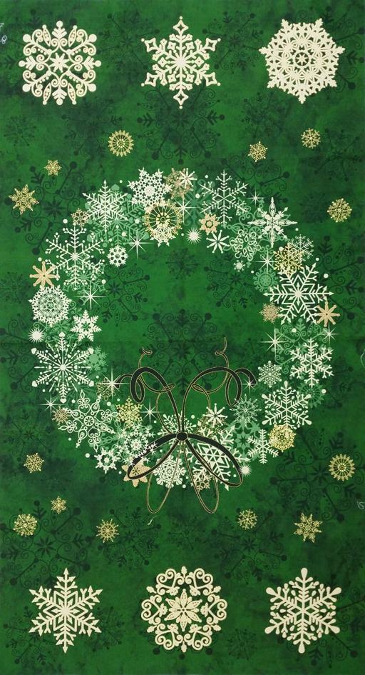 Starry Night Wreath Panel