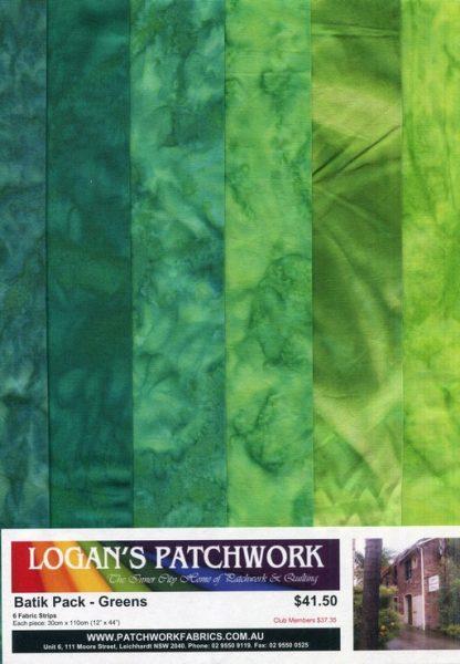 Batik Packs - Greens