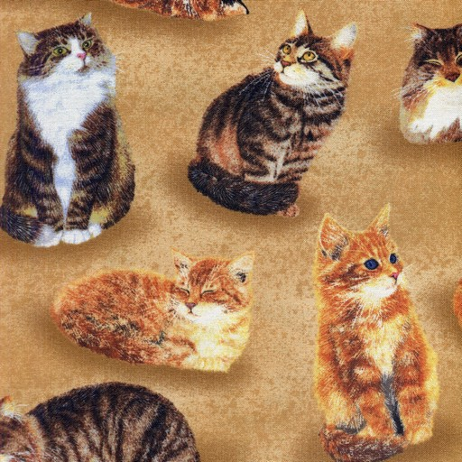 Cats All Over - Tan 80159-289