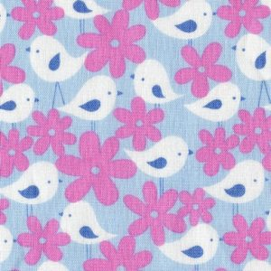 Birds and Flowers - Blue PWDW066-BLUEX