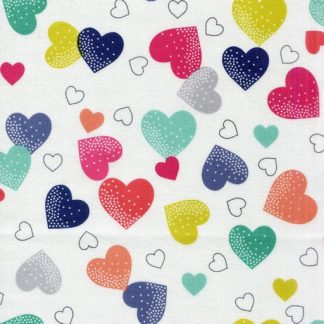 Hearts - White 1819-W