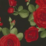 Spaced Roses C5053-Black