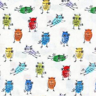 Finger Print Owls - White SAMARRA-C2134