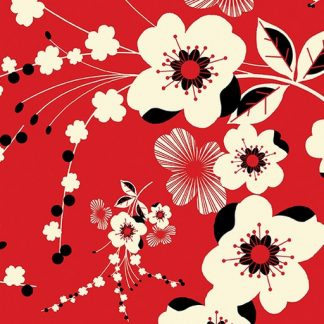 Plum Flower - Red 8549-10