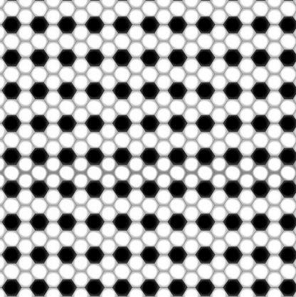 Soccer Geo - Black and White 9985-99