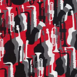 Jazz Silhouettes - Red 08140-10