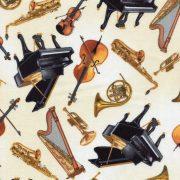 Tossed Musical Instruments - Cream 6240-07