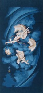 Traditional Japanese Dragon Noren Panel 7290-45