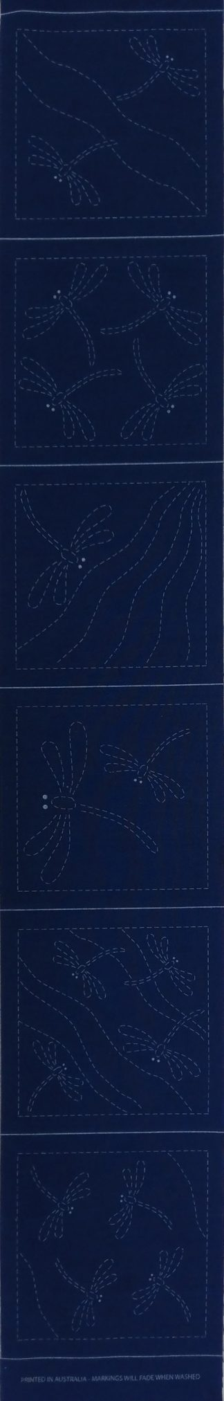 Sashiko Panel Dragonfly Coaster Runner Set No.DFCR-Indigo