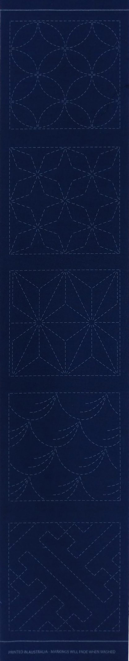 Sashiko Panel Runner No.GEO1-Indigo