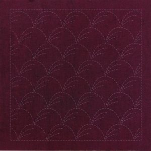 Sashiko Panel Nowaki Grasses No.INS1-Cherry Red