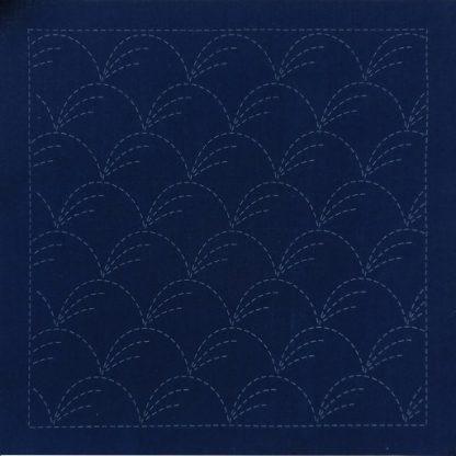 Sashiko Panel Nowaki Grasses No.INS1-Indigo