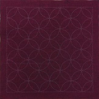 Sashiko Panel Seven Treasures (Shippo-Tsunagi) No.INS3-Cherry Red
