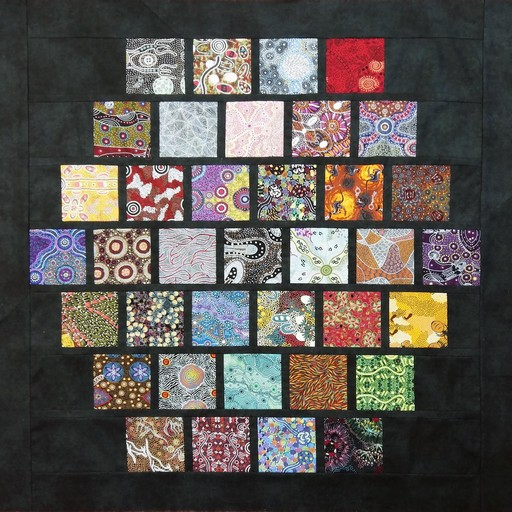 Aboriginal Art Charm Pack Quilt Kit - Offset Layout
