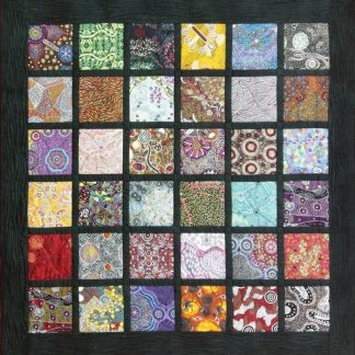 Aboriginal Art Charm Pack Quilt Kit - Original Layout