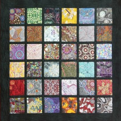 Aboriginal Art Charm Pack Quilt Kit - Original Layout