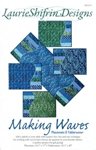 Making Waves Placemats & Table Runner Pattern by Laurie Shifrin Designs