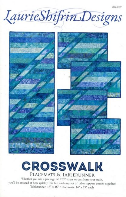Crosswalk Placemats & Table Runner Pattern designed by Laurie Shifrin Designs