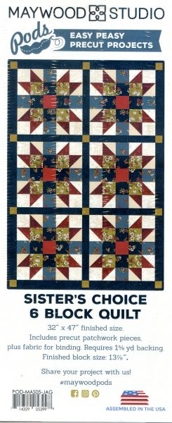 Sister's Choice 6 Block Quilt Kit (with pre-cut pieces)