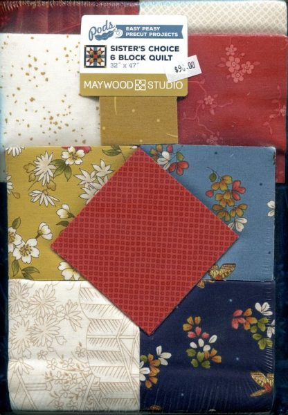 Sister's Choice 6 Block Quilt Kit Pack Image