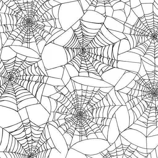 Fright Night Spider Webs - White 1107-1