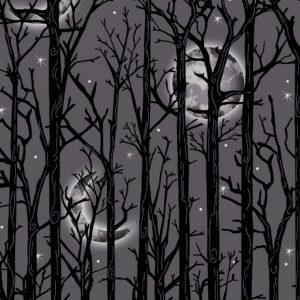 Moonlit Trees – Grey  1112M-90