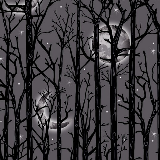 Moonlit Trees - Grey 1112M-90