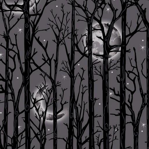 Moonlit Trees - Grey 1112M-90