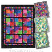 Jeweled Tiles by Elaine Theriault - Free Pattern using Essence fabric range