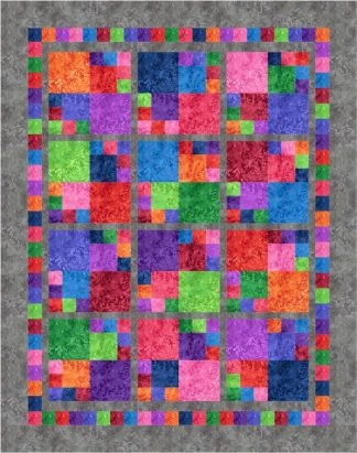 Jewel Tiles Quilt Kit - Jewel Version with Grey