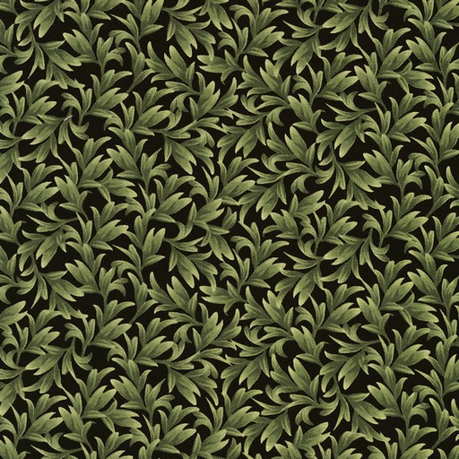 Orchid Leaves C5648-Black
