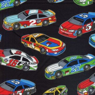 Race Cars - Black and Multi 1173-98