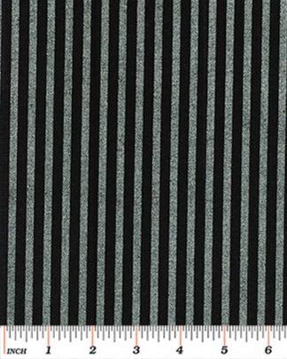 Stripe - Silver on Black 4928M-12