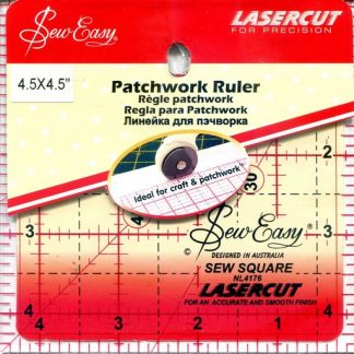 "Sew Easy Patchwork Ruler 4 ½"" x 4 ½"""