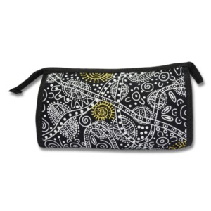Cosmetic Bag - Bush Tucker Black