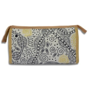 Cosmetic Bag - Bush Tucker White