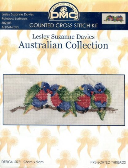 Counted Cross Stitch Kit - Rainbow Lorikeets
