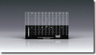 Westalee 12 Inch Ruler with Adjustable Locking Fabric Guide.