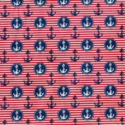 Nautical Stripe - Red B2119-09