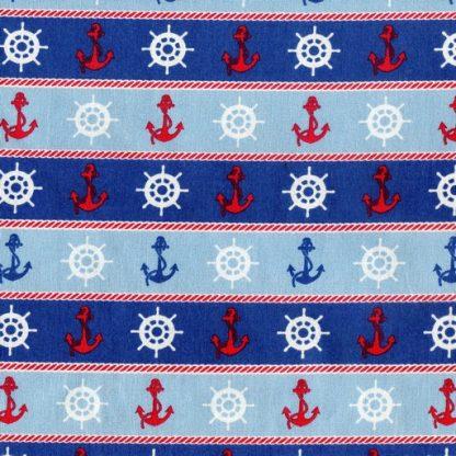 Ships Wheels and Anchors - Blue B2119-12