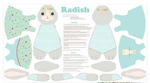 Radish Rabbit Panel - Blue