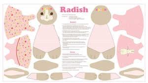 Radish Rabbit Panel - Pink