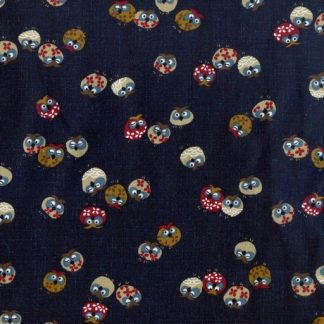 Traditional Japanese Owls - Indigo 3375-W-16-A
