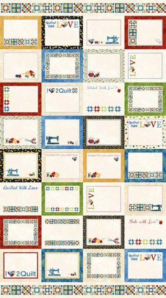 A Stitch in Time Quilt Labels Panel 22099-99