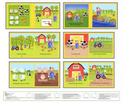 Apple Tree Farm Panel 8836P-66