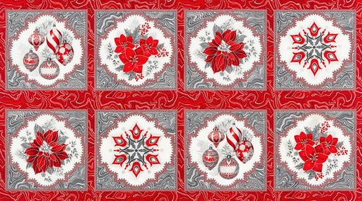 Holiday Flourish 11 Panel APTM-17334-186 - Silver