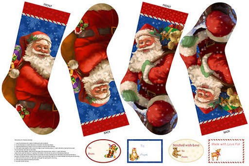 Santa Claus is Coming to Town Stocking Panel DP21694-24